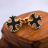 Wholesale Male Steel Cuffs - French Shirt Cufflinks Gold for Mens Brand Cuff link Button male High Quality Free Shipping 2017 New Arrival