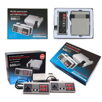 Wholesale Nes Wholesale - New Arrival Mini TV Video Handheld Game Console Entertainment System Built-in 500 600 620 Classic Games for NES Games PAL&NTSC DHL Free