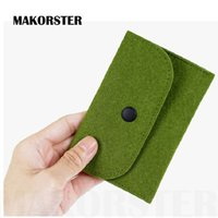 Card Holders black visa - casual Felt Fabric id card holder Bag visa business big card holder men and women credit card wallet female passport cover XH163
