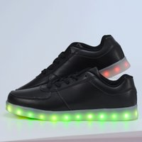 Wholesale Neon Shoes For Men - 2016 women light up led luminous shoes color glowing casual fashion with new simulation sole charge for men adults neon basket