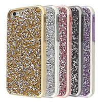Wholesale Diamond Smart Wallets - Premium bling 2 in 1 Luxury diamond rhinestone glitter back cover phone cases For Universal smart phone case Package available