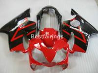 Wholesale Honda F4i Parts - Injection moto parts fairing kit for Honda CBR600 F4I 04 05 06 07 red black fairings set CBR600 F4I 2004-2007 IY29