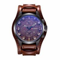 Wholesale Curren Leather - 2016 Curren Men's Casual Sport Quartz Watch Mens Watches Top Brand Luxury Quartz-Watch Leather Strap Military Watch Wrist Male Clock