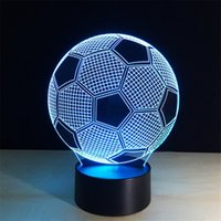 Wholesale Unique Night - Novelty Light 7 color change 3d optical illusions Unique Lighting Effects Led Football Night Led Lamp