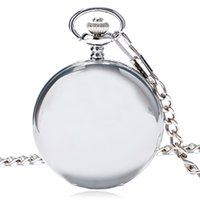 Wholesale Mens Pocket Watches Sale - Wholesale-Hot Sale Style Fashion New Arrvial Classic Smooth Vintage Silver Color Women Mens Arabic Numbers Fob Pocket Watch Free Shipping