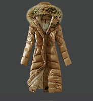 Wholesale Down Feathers Coat - 2016 New Fashion Long Winter Jacket Women Slim Female Coat Thicken Parka Down Cotton Clothing Red Clothing Hooded Parkas High Quality