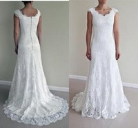 Wholesale Vintage Dress Shops - Vintage Mermaid Wedding Dresses for Women 2017 with Lace Vestido De Noiva Garden Spring Court Train Mariage Online Shop Cheap Bridal Gowns