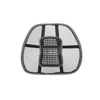 подушки опорной подушки спинки оптовых-удобная сетка стула рельеф поясничного подпора поддержка автомобиля подушка офисного кресла стул черная поясничная подушка