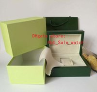 Wholesale Luxury Handbag Wholesale Free Shipping - Free Shipping The new Green Brand Watch Original Box Papers Card Purse Gift Boxes Handbag 185mm*134mm*84mm 0.7KG High quality gift box