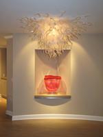 krake deckenleuchte großhandel-Deckenleuchten Luxus Weißglas Kristall Licht LED Lichtquelle Home DecorStyle Mundgeblasenes Glas Kunst Deckenleuchten