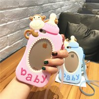Wholesale Iphone Cases Silicon Animals - newest 3D Hollow soft silicon case For Iphone 7 6 6s plus cute cartoon animal monkey milk baby feeding bottle nipple cover