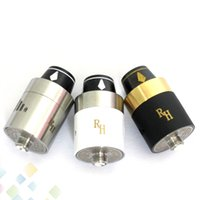 Wholesale Rda Stainless - Vaporizer Royal Hunter RDA RH RDA Atomizer SS Black Color 22mm Rebuildable Tank Stainless Steel Black 2 colors fit 510 Mods DHL Free
