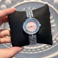 Wholesale Lady Small Watch - 2017 New design Luxury small watch with rolling diamond Fashion lady dress watch Jewelry Women watch High Quality famous brand free shipping