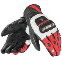 Wholesale Fiber Finger - Motorcycle Gloves motocross knight riding Leather Gloves Carbon Fiber Men Cycling Racing Moto Motorbike Motocicleta GuantesLuvas