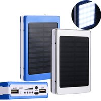Wholesale Solar Charge Bank - 30000 mah Solar Charger and Battery 30000mAh Solar Panel Dual UAB Charging Ports portable power bank with LED Light for All Cell Phone