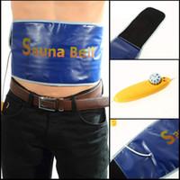 Wholesale Heated Massage Belt - Wholesale- Heating Slimming Health Care Body Tummy Waist Massager Massage Sauna Exercise Belt For Weight Loss Hot
