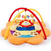 lindos juguetes de leon de bebe al por mayor-Bebé lindo del león Juego regalos Niños Festival Mat bebé de juguete de interior al aire libre del niño de gimnasia de la actividad musical Jugar manta de arrastre del cojín