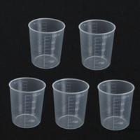 Wholesale Wholesale Laboratory Supplies - Wholesale- Kicute 5Pcs 100ml Plastic Transparent Laboratory Test Measuring Jug Graduated Beaker Container Liquid Measuring Cups Lab Supply