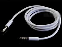 câbles noirs de 3,5 mm achat en gros de-3.5mm AUX Audio Câbles Mâle à Mâle Stéréo Voiture Extension Câble Audio pour MP3 pour téléphone Noir et Blanc 100 pcs Livraison Gratuite