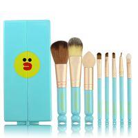 Wholesale Shaving Mirrors - 8Pcs Fantasy Set Too Faced Oval Makeup Brushes Eyeliner Eyebrow Maquillaje Shaving Make Up Brush Set Beauty Sponge Blender With Box Mirror