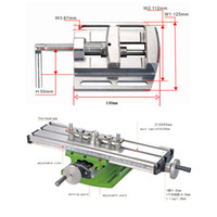 """Wholesale Mini Work Table - Mini Multifunctional Cross Working Table For Drilling Milling Machine Bench Vise Mechanic Tools + 2.5"""" Parallel-jaw vice"""