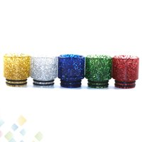 Wholesale atomizer goon for sale - Group buy Colorful TFV12 TFV8 Drip Tip Shine Epoxy Resin Drip Tips Shining Mouthpieces Fit Kennedy GOON Mad Dog Atomizer DHL Free
