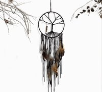 ingrosso ornamenti di cristalli-Indiano stile retrò sogno della vita dell'albero sogno del sogno rete coperta gioielli in cristallo amuleto ciondolo a mano ornamenti casa