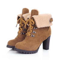 Wholesale Small Yards 31 Size - Wholesale- Small yards boots fashion 31 32 33 34 high-heeled boots plus size boots female 40 - 43 thick heel autumn
