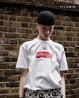 Wholesale X Men Logo - 2017 Brand new T-Shirt 100% quality x CDG Box Logo Bogo T-Shirt Tee S-XL Black white S206