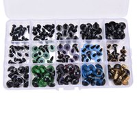 Wholesale Plastic Safety Eyes 12mm - 150PCS Kids Toys Doll Accessories DIY Plastic Black Mix Color Safety Eyes for Teddy Bear 3D Animal Craft Puppet Doll Eyes 6-12mm