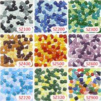 Wholesale Glass Stone Tile Backsplash - 200g Crystal Glass Free Stone Colorful Mosaic tile_ backsplash kitchen wall tile sticker bathroom floor feet massage tile