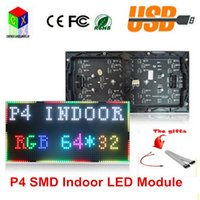 P4 SMD 3in1 Modulo interno LED 256 * 128mm 64 * 32 pixel 1/16 scansione rgb Led visualizza modulo per muro video LED