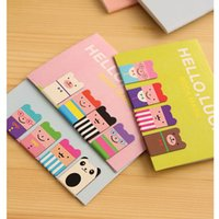 Wholesale A48 Set Birthday Gift Kawaii Magnetic Bookmarks Books Marker of Page Marcador de Livro Stationery Paperclip Office Supplies