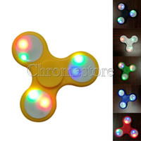 Wholesale Toy Led Gyroscope - LED Lighting Hand Spinner Plastic Toys For Autism ADHD Anxiety Stress Relief Focus Finger Gyroscope Funny Fidget Toy Work Class Home Gift