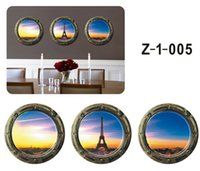 PVC sports bedroom sets - 1 Set Three D PVC Interior Decorative Wall Stickers Eiffel Tower Sunset Sea Shark Ship Wall Decals Home Decoration For Living Room