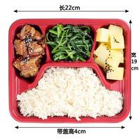 Wholesale Grid disposable lunch box disposable food box