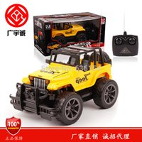 Atacado - Brand New 1/24 Scale Off-Road RC Carros Big Wheel Cross-country Jeep 4 Canais LED Automotive Light Controle Remoto Car Toy