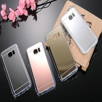 Wholesale Galaxy S4 Case Protective - Luxury Soft Mirror TPU Bumper Case For Samsung GALAXY note 5 S3 S4 S5 S6 S7 Edge Plus Dustproof Protective Cover