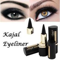 Wholesale Eye Liner Stickers - MISS ROSE Brand Magical Makeup Eyes Pencil Longwear Black Gel Eye Liner Stickers Eyeliner Wateroroof Make Up
