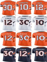 Bronco # 10 Emmanuel Sanders # # 12 Paxton Lynch # 30 Terrell Davis Uomo Donna Gioventù Vapor Untouchable Color Rush Custom Elite Football Jersey