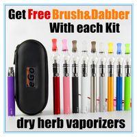 Wholesale Ego Vapes - Ego starter kits dab pens 650mah 900mah 1100mah wax pen glass globe vape pens COLORS Dome Portable vaporizer dry herb vapes e cigs