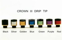 Wholesale Tips For E Cigs - Uwell Crown 3 Drip Tip 510 Style Drip Tip Fit for Uwell Crown 3 Tank Varoius Colors 100% Atomizer Mouthpiece e cigs