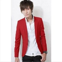 Wholesale Cool Slim Men Blazer - Wholesale- New Stylish Men's Casual Slim Fit One Button Suit Blazer Coat Jacket Tops Cool Coats