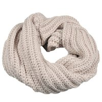 Wholesale circles scarf - Wholesale- 2016 Hot Women's Auturm Winter Warm Scarf Circle Wool knitted Thick Cowl Neck Scarf Wrap Collar Coupers Solid Scarves Bufandas