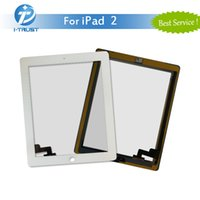 Wholesale Ipad White Digitizer Lcd - For iPad 2 Touch Screen Digitizer Assembly Glass Replacement Part for iPad White Black With Free DHL Shipping