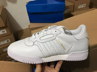 Wholesale with box new arrival kanye west calabasas powerphase men women Classic Triple black white Casual Shoes sneakers athletics Shoes size36