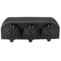 Wholesale car socket adaptor resale online - New V V Three Marine Car Cigarette Lighter Splitter Power Adaptor Sockets CEC_60W