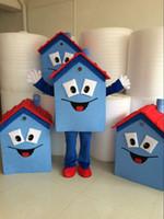 fazer mascote venda por atacado-Adorável casa mascote traje de alta qualidade artesanal carnaval ou férias abastecimento adulto tamanho