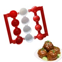 Wholesale abs moulding - Newbie Meatballs Mold Stuffed Fish Meat Balls Maker ABS Homemade Mould DIY Kitchen Cooking Tools 120pcs OOA2065