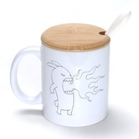 spitfire classic - Spitfire Mug Coffee Milk Ceramic Cup Creative DIY Gifts Mugs oz With Bamboo cover lid Spoon S065